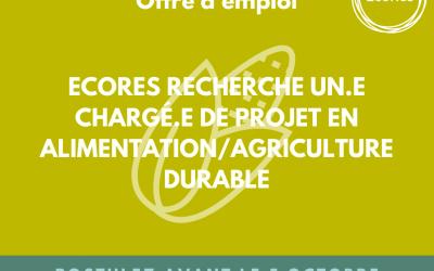 EcoRes recherche un.e chargé.e en agriculture/alimentation durable